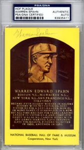 Warren Spahn Autographed Signed HOF Postcard Milwaukee Braves PSA/DNA 83935411