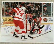 Shanahan - Brodeur Autographed Red Wings vs Devils 11x14 Photo W/COA