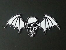 ROCK MUSIC SEW/IRON ON PATCH:- AVENGED SEVENFOLD (b) WHITE WINGED DEATHBAT