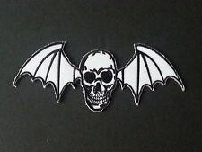 ROCK MUSIC SEW/IRON ON PATCH:- AVENGED SEVENFOLD (b) WHITE WINGED DEATHBAT