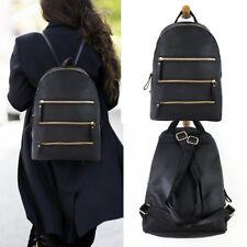 Womens Girls Faux Leather Backpack Travel Shoulder Bag School Rucksack