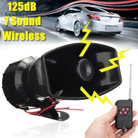100W 7 Sound Car Wireless Warning Alarm Police Fire Siren Horn Speaker System
