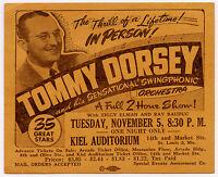 Original 1946 TOMMY DORSEY ORCHESTRA Concert Handbill - Ziggy Ellman