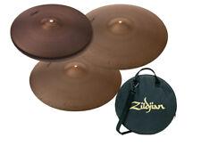"Zildjian A Avedis Series 14"" Hi Hats, 18"" Crash & 20"" Ride Cymbal Bundle w/ Bag"