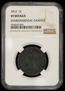1812 1c Classic Head Large Cent - Large Date - NGC VF Details - SKU-Z1289