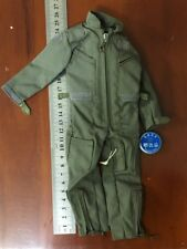 "1:6th Men's Green Pilot Coverall Model For 12"" Male Figure Body Doll Toy"