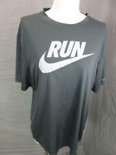 Nike Size L Mens Gray Athletic Dri-Fit Short Sleeve Running T-Shirt T630