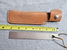 Schrade Old Time sharpening hone with leather sheath lot C