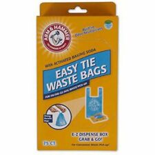 Arm & Hammer 71041 Easy-Tie Waste Bags Blue 75-Pack