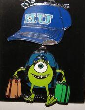 Disney Monsters Inc. University Mike Wazowski & MU Baseball Hat 2 Pin Set