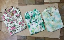 Women's clothing lot outfit sz 14 pants, 3 large blouse & 3 necklaces, 7pc, Nice