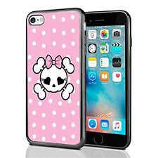 Pink Polka Dots Skull For Iphone 7 (2016) & Iphone 8 (2017) Case Cover