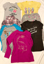 (7) Lot #1 Girls T Shirts Tops Button Down XL X Large 14 16 School Play Casual