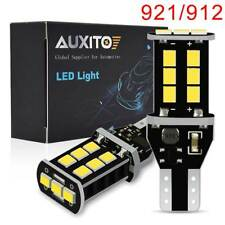 2x AUXITO 921 912 T15 White LED Backup Reverse Light Bulb W16W Error Free 1700LM