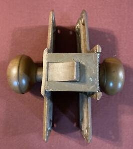 Antique Corbin Brass Door Knobs Mortise Set Vintage 1900 Patent - No Key