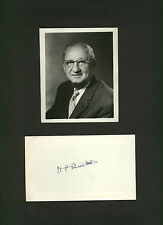 Herbert P Buetow * signed card + photo of 3M Company President *Minnesota Mining