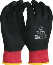 10 x UCI Adept-Red-FC Red Nylon Comfortable NFT Full Coated Red Liner Glove
