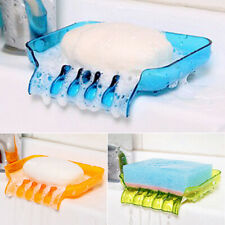 AM_ Suction Cup Water Drain Soap Dish Tray Sponge Holder Bathroom Kitchen Tools