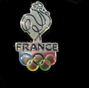 PyeongChang 23rd Winter OLYMPIC NOC FRANCE Team  Cutout design silver pin Tokyo