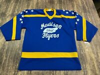 VTG Madison West Flyers (WI) Men's Blue Hockey Jersey - Small