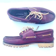 Vintage Mc Gregor Men's  Shoes size 9 red brown leather ties loafers