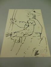 """PABLO PICASSO HAND SIGNED IN RED PENCIL LITHOGRAPH 1959  """"TOROS Y TOREROS""""   COA"""