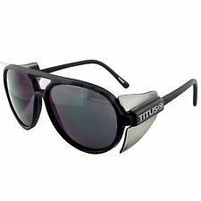 TITUS Aviator Safety Glasses Full Protective Side Shield ANSI Z87.1 w/ Flex Stem