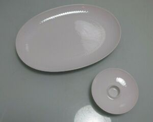 Plate + Candle Holder Rosenthal Romance White Wiinblad (Dr )