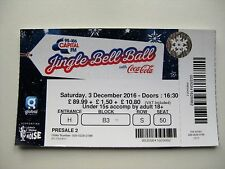 Jingle bell ball  O2 LONDON  03/12/2016  TICKET