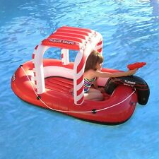Kids Inflatable Swimming Pool Boat Floating Water Ride Squirter Float Toy Raft