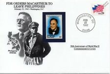 WWII 1942 FDR Orders Macarthur to Leave Philippines Stamp Cover (Danbury Mint)