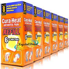 6x cura calore Artrite dolore RICARICA Polso Ginocchio sollievo 6 Pack (36 pastiglie di calore)