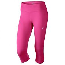 Women's Nike Epic Run capri training tights size Small Pink DRI -FIT running