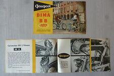 PEUGEOT les BIMA et BB 1957 / catalogue brochure dépliant