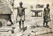 Rhumsiki Cameroun Afrique Hommes Kapsiki CIRCA 1950 12,8 x 8,8 cm Cameroon Homme