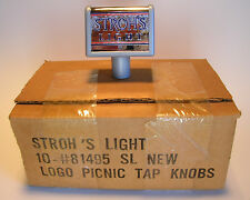 Strohs Light Beer Tap Handles Lot of 10 Shorty Picnic Tap Handles Sealed Box NOS
