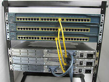 "Cisco CCENT CCNA Lab 3x2650  3x3560-24PS-S ICND  CCNA3  Free 12U 19"" Rack"