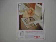 advertising Pubblicità 1968 LAVATRICE REX P5