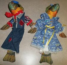 ADORABLE  PAIR OF FISH , GREAT FOR BOAT, OFFICE OR HOME RARE $129.00