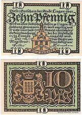 Germany 10 Pfennig 1921 Notgeld Lingen UNC Uncirculated Banknote