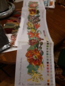 Elizabeth Bradley A Victorian Flowered bellpull Tapestry kit