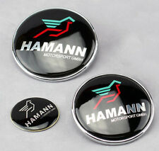 KIT - 3 Badge HAMANN BMW - Embleme - Capot+Coffre+Volant LOGO Insigne 82/73/45mm