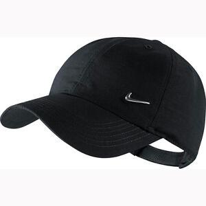 NIKE Kinder Metal Swoosh Logo Cap Kids schwarz Basecap Unisex Baseballcap Mütze