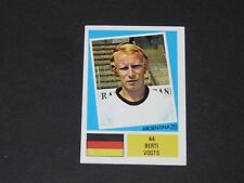 N°44 BERTI VOGTS RFA BRD AGEDUCATIFS FOOTBALL ARGENTINA 78 WM 1978 PANINI