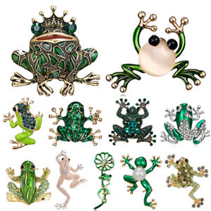 Fashion Animal Insects Frog Pearl Crystal Breastpin Brooch Pin Women Jewelry Hot