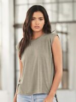 Bella + Canvas - Women's Flowy Muscle Tee with Rolled Cuffs - 8804