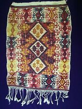 ANTIQUE ANATOLIAN WOOL WOVEN FRAGMENT WALL RUG