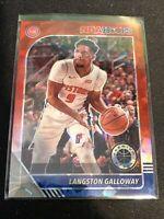 2019-20 NBA Hoops Premium Stock Langston Galloway Red Cracked Ice Prizm Pistons