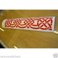 Celtic Narrowboat Knot Rectangular Sticker Decal Graphic STYLE 7 - SINGLE