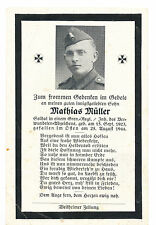Original Sterbebild Grenadier Rgt. 17 Braunschweig  25.8.1944  Lawecko Polen